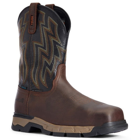 ARIAT MEN'S REBAR FLEX WESTERN WATERPROOF COMPOSITE TOE WORK BOOT #10034157