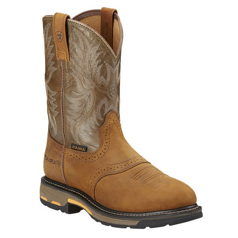 ARIAT MEN'S WORKHOG COMPOSITE TOE AGED BARK #10001191