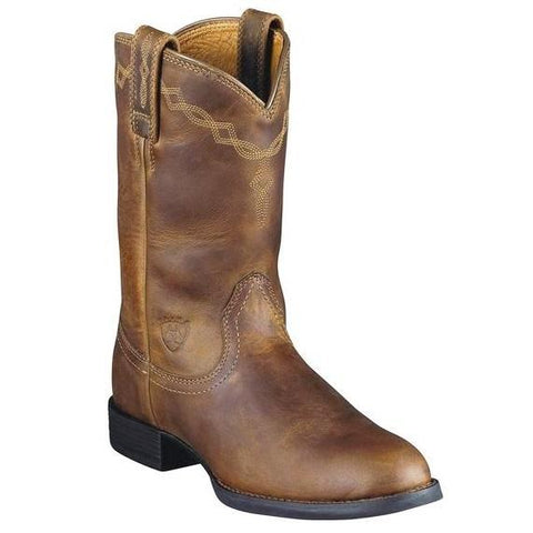 ARIAT MEN'S HERITAGE ROPER DISTRESSED BROWN #10002284