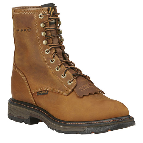 "ARIAT MEN'S WORKHOG 8"" LACE UP AGED BARK #10016266"