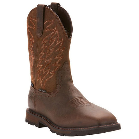 ARIAT MEN'S GROUNDBREAKER WATERPROOF STEEL TOE WORK BOOT #10024992