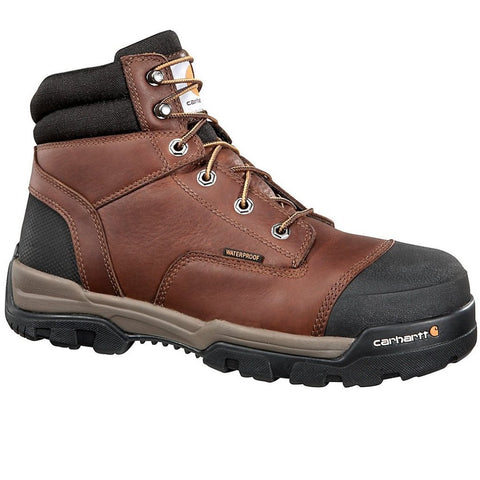 "CARHARTT MEN'S GROUND FORCE 6"" BROWN COMPOSITE TOE WORK BOOT #CME6355"