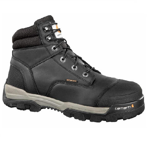 CARHARTT MEN'S GROUND FORCE 6'' BLACK COMPOSITE TOE WORK BOOT #CME6351