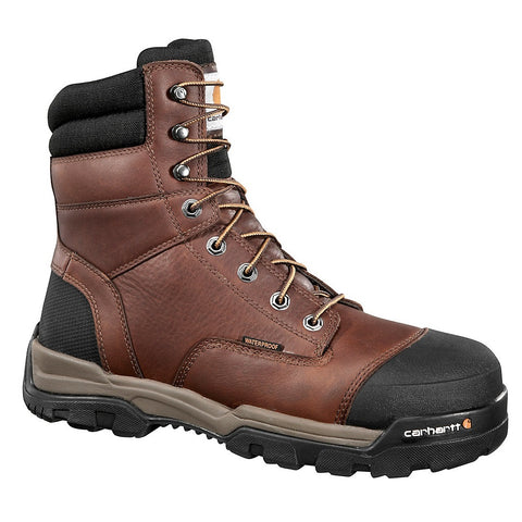 "CARHARTT MEN'S GROUND FORCE 8"" BROWN COMPOSITE TOE WORK BOOT #CME8355"