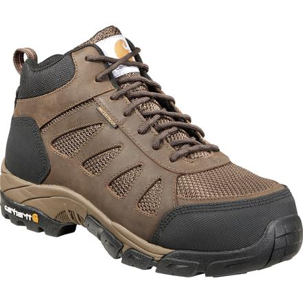 CARHARTT MEN'S LIGHTWEIGHT SAFETY TOE WORK BROWN HIKER #CMH4480