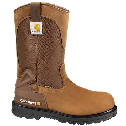 "CARHARTT MEN'S 11"" BROWN WATERPROOF WELLINGTON BOOT #CMP1100"
