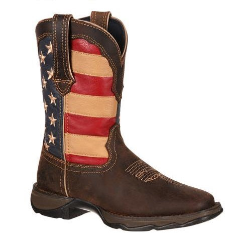 DURANGO LADY REBEL PATRIOTIC WESTERN FLAG BOOT #RD4414