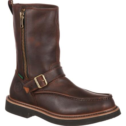 GEORGIA MEN'S SIDE ZIP WATERPROOF WELLINGTON #G4124