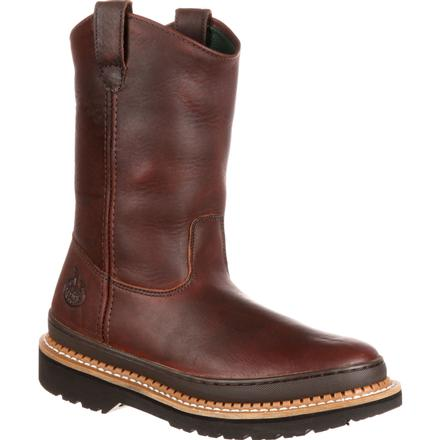 GEORGIA MEN'S STEEL TOE WELLINGTON BOOT #G4374