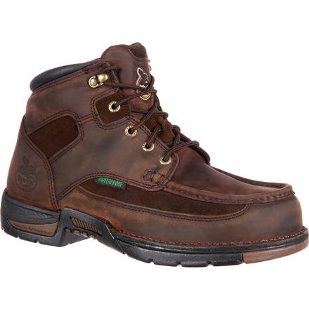"GEORGIA MEN'S ATHENS 6"" WATERPROOF STEEL TOE WORK BOOT #G7603"