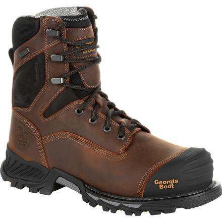 "GEORGIA MEN'S 8"" RUMBLER COMPOSITE TOE WATERPROOF WORK BOOT #GB00285"