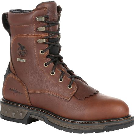 "GEORGIA MEN'S 8"" CARBO-TEC LT WATERPROOF LACER WORK BOOT #GB00309"