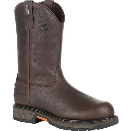 GEORGIA MEN'S CARBO-TEC LT STEEL TOE WATERPROOF PULL-ON WORK BOOT #GB00310