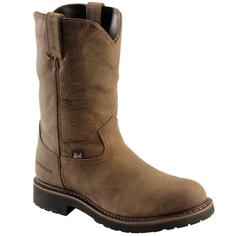 JUSTIN MEN'S WYOMING WORKER II™ WATERPROOF STEEL TOE WORK BOOT #WK4961