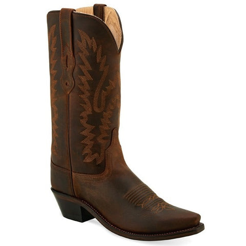 OLD WEST WOMEN'S BROWN FASHION BOOT #LF1511