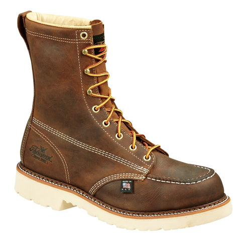 THOROGOOD MEN'S AMERICAN HERITAGE 8″ TRAIL CRAZYHORSE SAFETY TOE MOC TOE MAXWEAR90 #804-4378