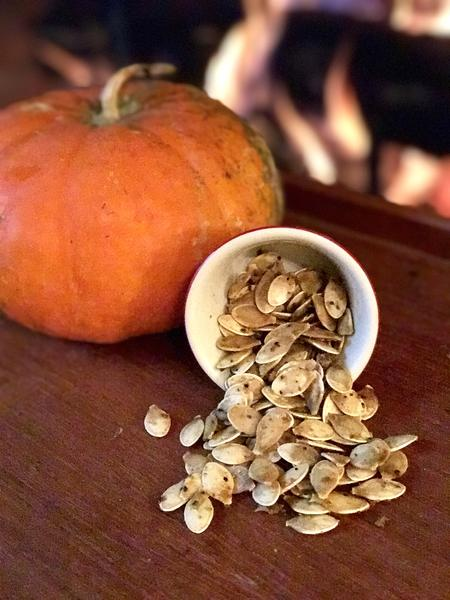 Vegan Spicy Verde Pumpkin Seeds