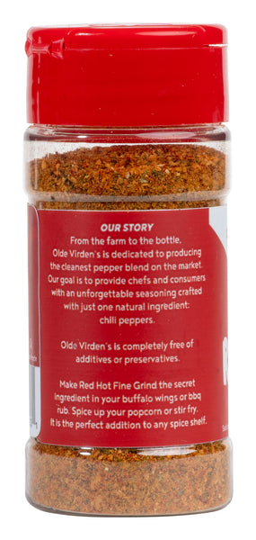 Olde Virden's Red Hot Super Fine Grind 1.5 oz. Bottle