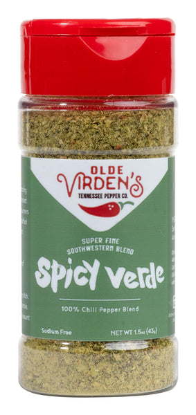 Olde Virden's Spicy Verde Fine Grind 1.5 oz. Bottle