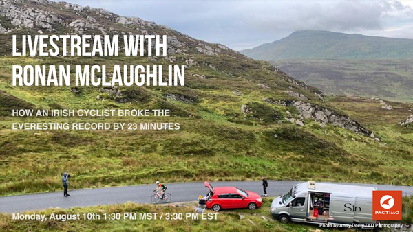 Livestream: Ronan McLaughlin, Everesting World Record Holder
