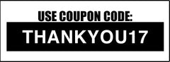 Use coupon code: THANKYOU17