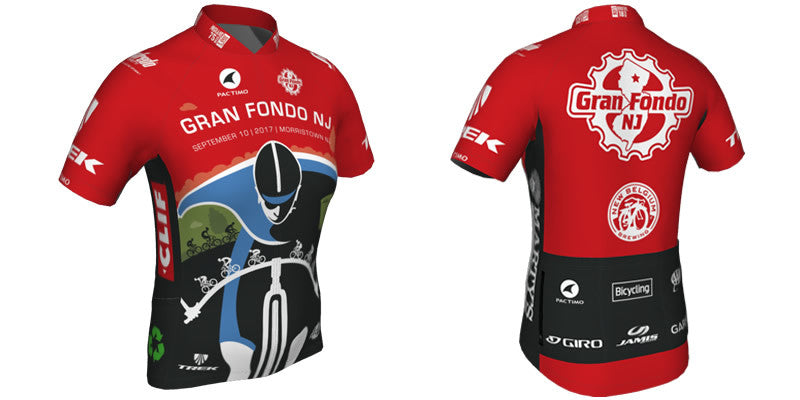Gran Fondo New Jersey - Jerseys