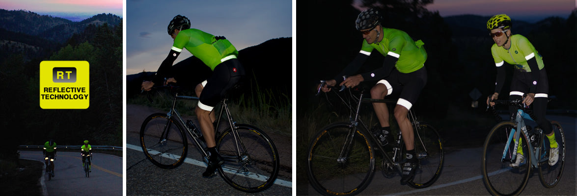 Reflective cycling clothing for men and women