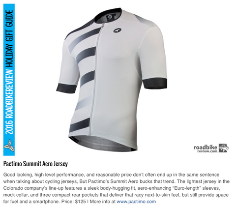 Summit Aero Jersey 2016 Gift Guide