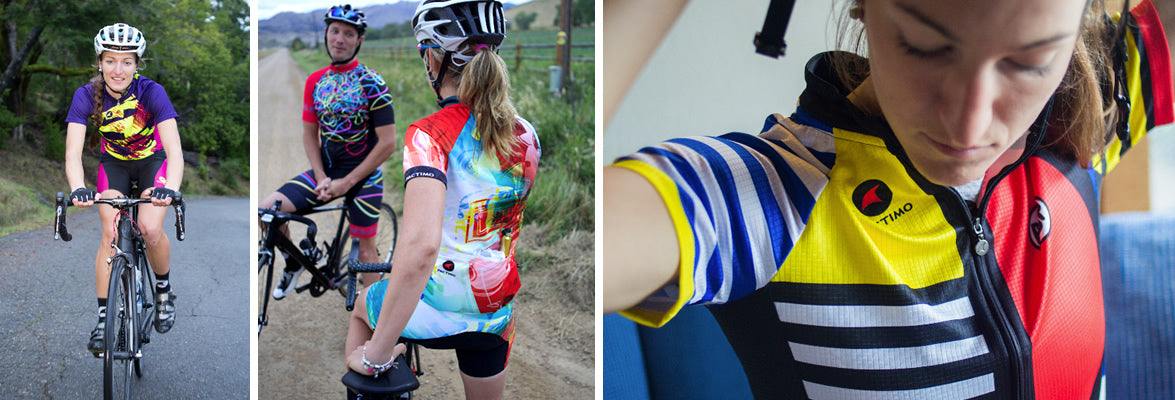 women's artist designed cycling jerseys and shorts