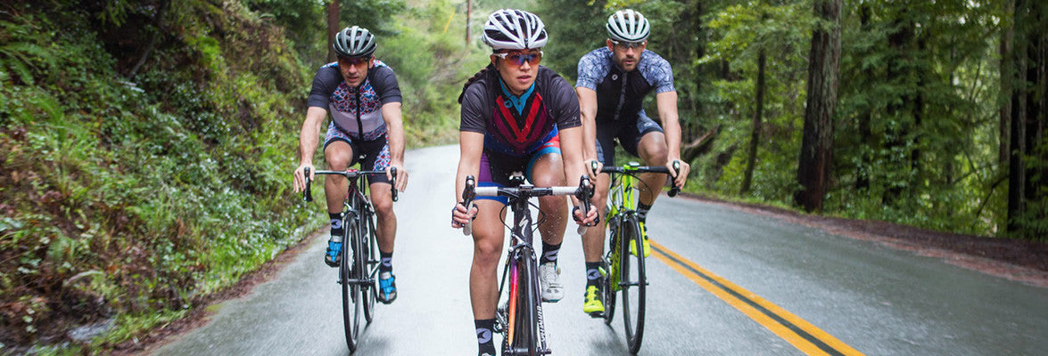 Artist designed cycling clothing for men and women