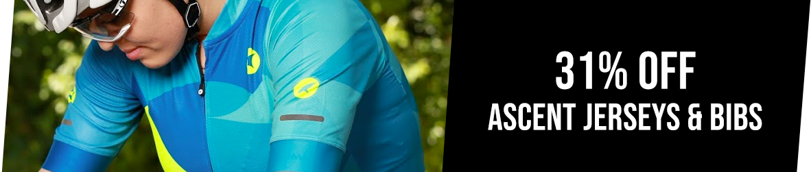 31% Off Ascent Cycling Jerseys and Bibs