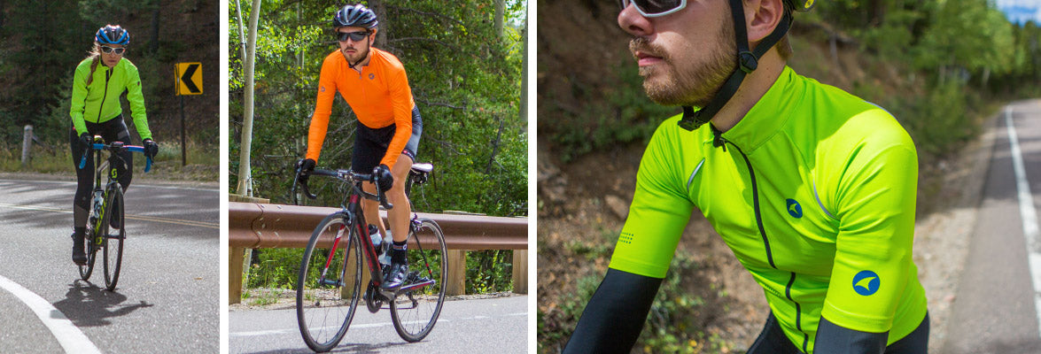 High Visibility Cycling Clothing Collection. Garments in this collection  feature hi-viz color options or accents. 1f15b9bf9