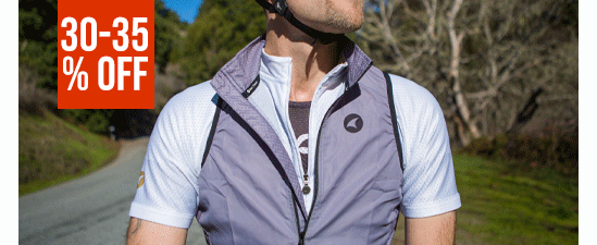 30-35% Off Men's Cycling Jackets & Vests