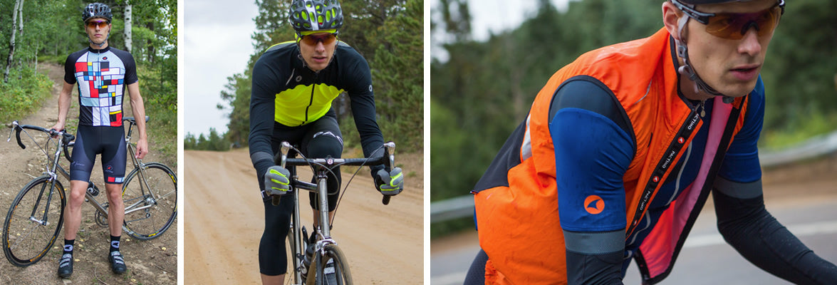 Cycling jerseys, shorts, jackets and vests for men