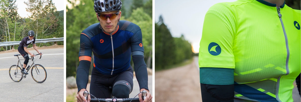 Summit Collection cycling jerseys and shorts for men and women
