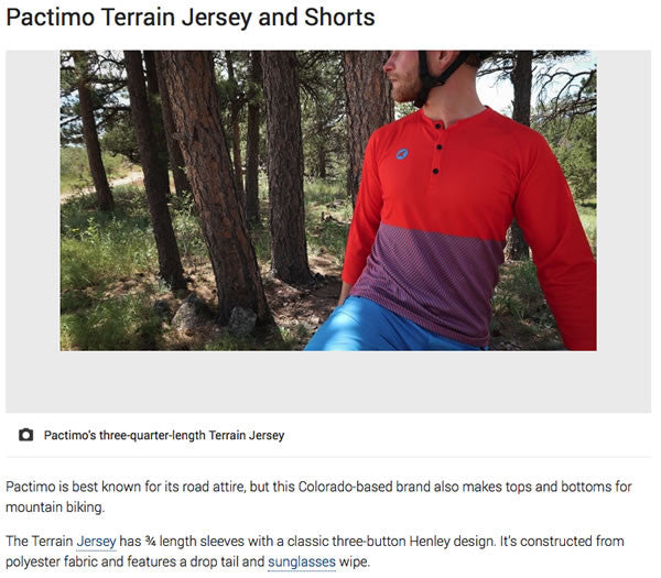 Bike Radar: Terrain Jersey & Shorts Review