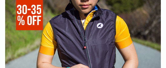 30-35% Off Women's Cycling Jackets & Vests