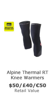 Win reflective thermal cycling knee warmers