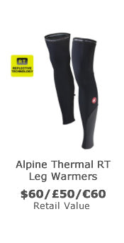 Win reflective thermal cycling leg warmers