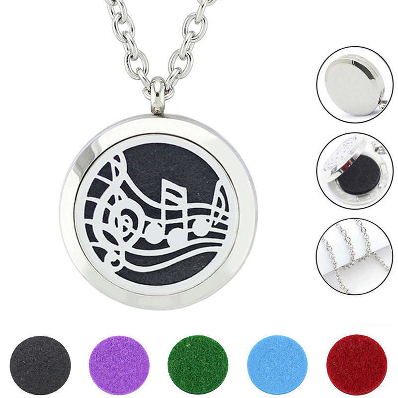 Music Notes Essential Oil Diffuser Necklace Worthyessentials