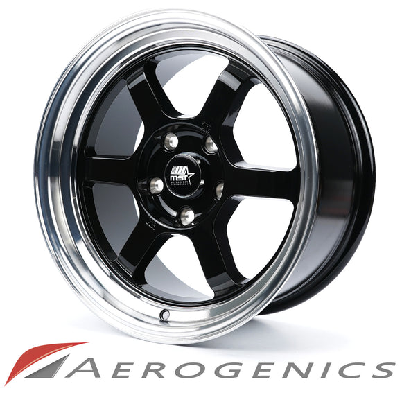 Offroad MST Wheels - Gloss Black w/Machined Lip / 16x8 +20