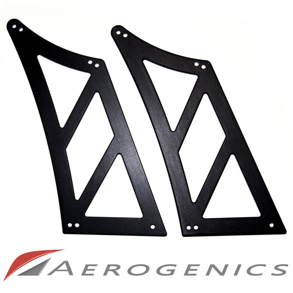 Billet Solid Cut Out Wing Stands For Voltex GT Wings - 295mm (Curved Trunk)