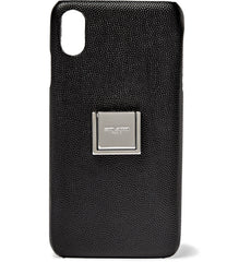 SAINT LAURENT  GRAINED-LEATHER IPHONE XS CASE