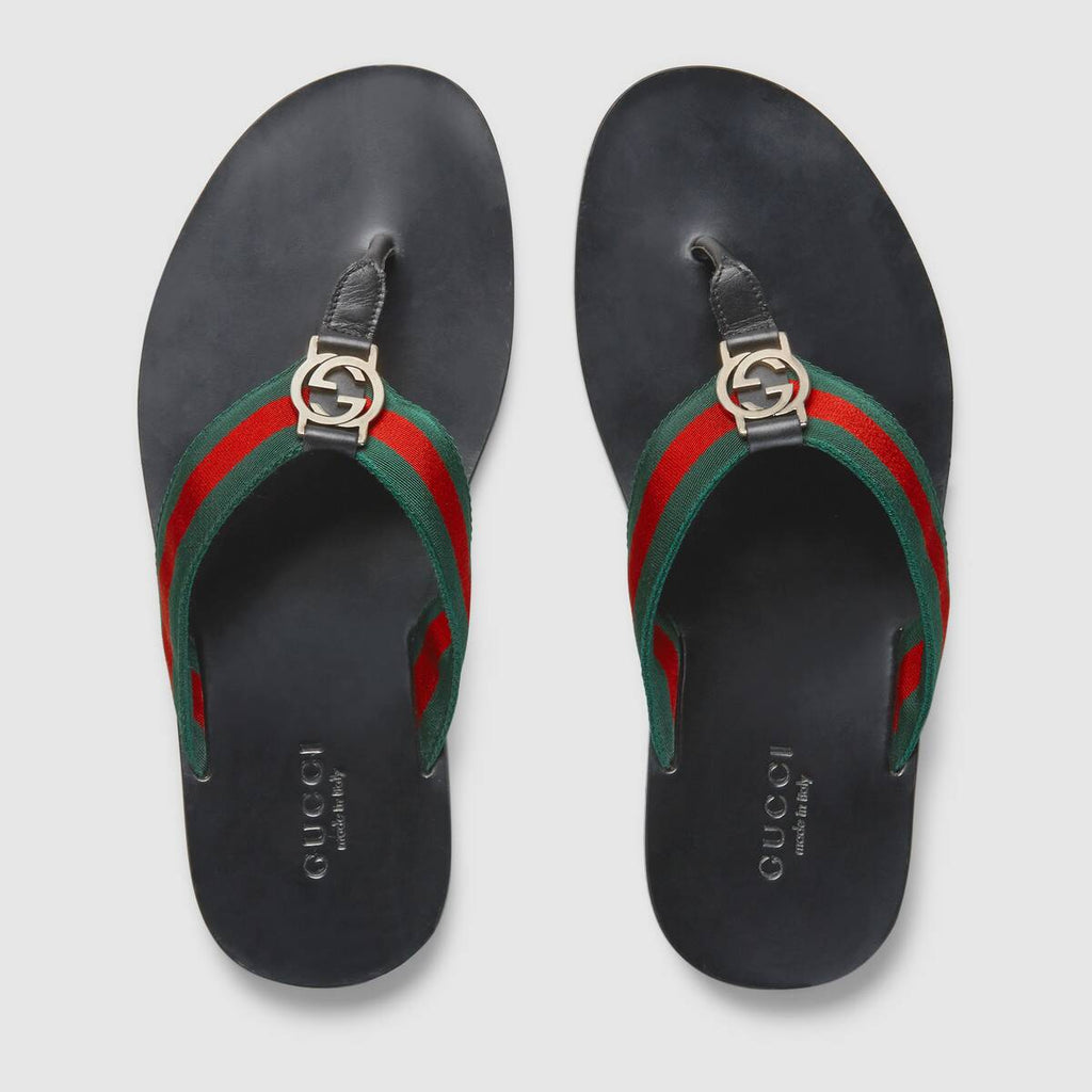 GUCCI WEB STRAP THONG SANDAL SIZE 8 SANDALS | LuxurySnob: pre owned luxury handbags, authentic designer goods second hand, second hand luxury bags, gently used designer shoes