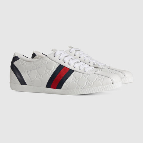 GUCCI GUCCISSIMA LEATHER  SNEAKERS SIZE 38