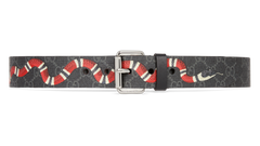 GUCCI GG SUPREME BELT WITH KINGSNAKE PRINT SIZE 95/38
