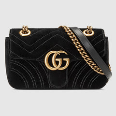 GUCCI GG MARMONT VELVET MINI BAG
