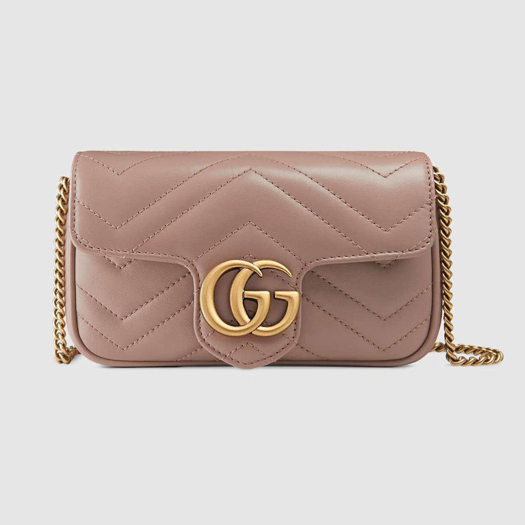 Gucci  GG Marmont Leather super mini bag - LuxurySnob