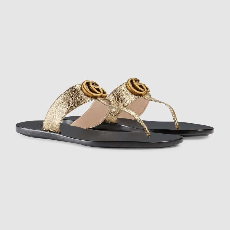 GUCCI LEATHER THONG SANDAL SIZE 41