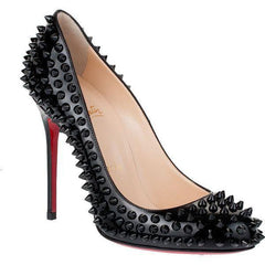 CHRISTIAN LOUBOUTIN FIFI SPIKES 100 mm size 38.5 SHOES | LuxurySnob authentic Louboutin shoes second hand, second hand Christian Louboutin, pre owned red bottom shoes